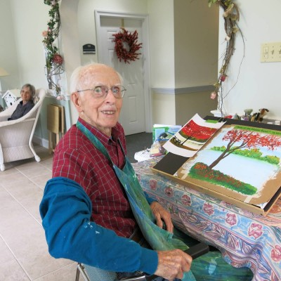 Here's to you Ken! Thank you for being such an inspiration to others by taking up a new hobby at 95!
